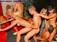 30+ Bi Partiers Slippin' and Sliding In Orgy Club